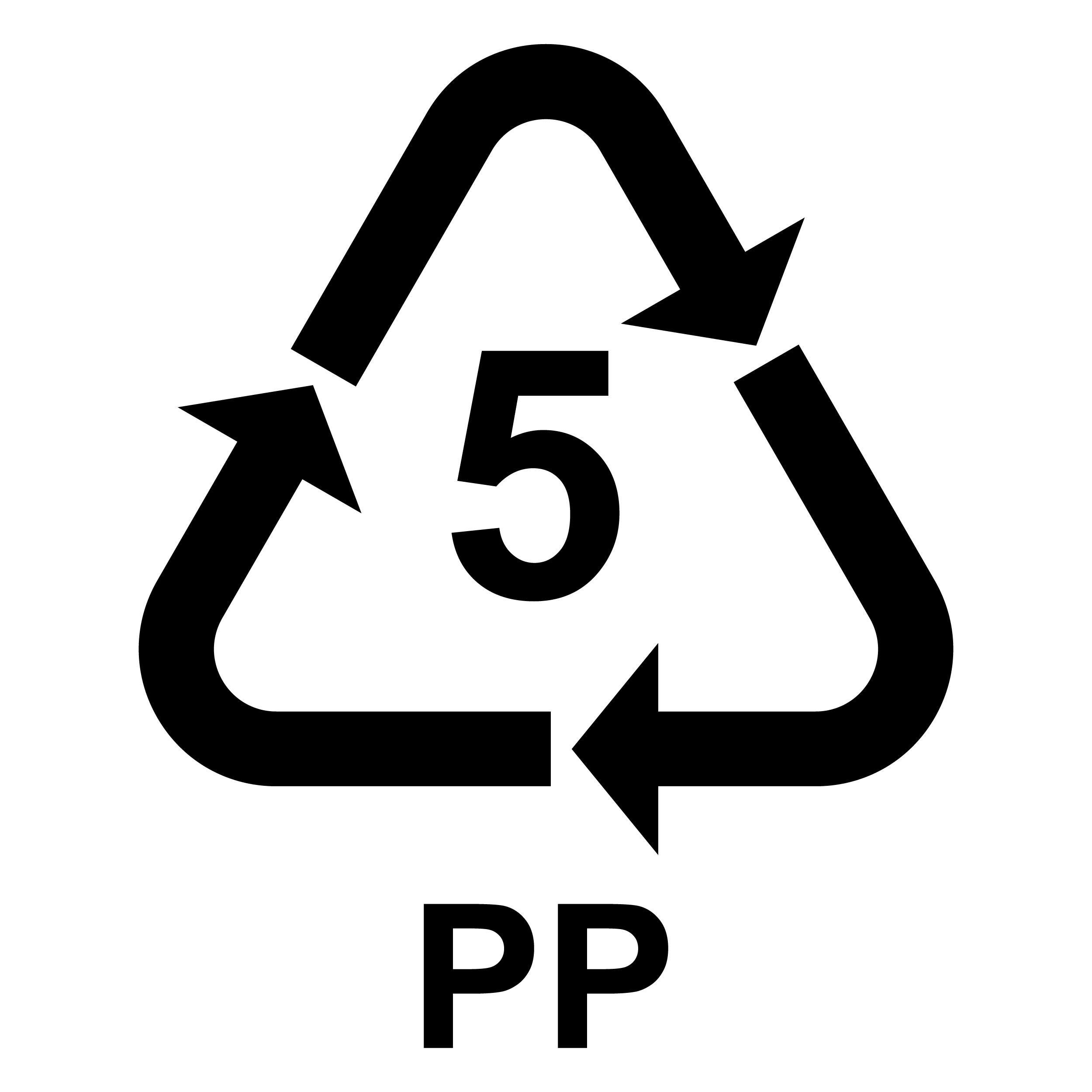 PP5 Recycling logo